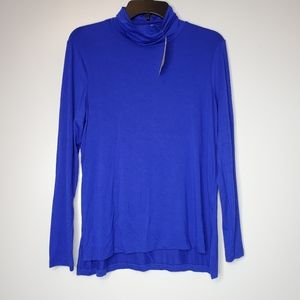 Anthropologie Everleigh Royal Blue Turtleneck Top